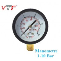 Manometre basınç saati 10 bar 140 Psi